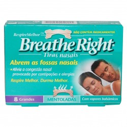 Breathe Right Mentoladas grandes x 8