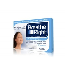 Breathe Right Transparentes grandes x 10