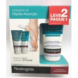 Neutrogena creme de pés rápida absorção pack x 2 embalagens