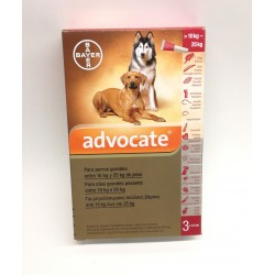 Advocate cães 4kg -10 kg  1 ml x 3 pipetas
